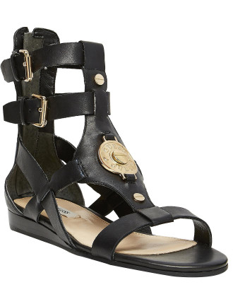Tallis Flat T-bar Sandal With Two Ankle Straps