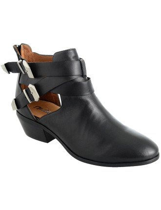 Sonia Ankle Boot With Cut Outs & Buckles