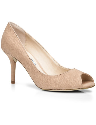 Pippa Single Sole Peeptoe Court