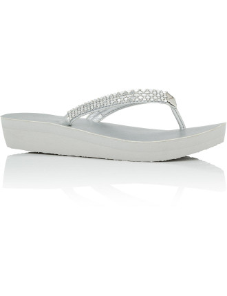 Starlin Platform Thong With Sparkle Straps