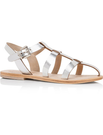 Art T-bar Flat Sandal With Toe Piece