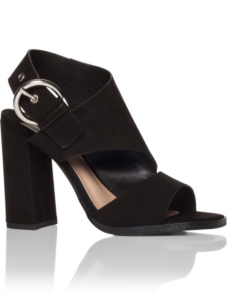 Dumont Block Heel With Silver Side Clasp