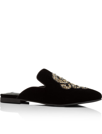 Hugh Slip On Snake Stone Patch/Velvet