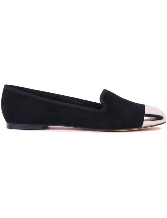 Elvin Suede Slipper With Toe Cap