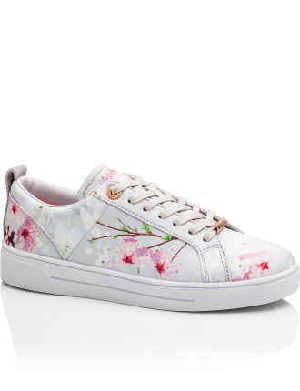 Printed Lace Up Tennis Trainer