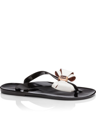 Bow Detail Jelly Flip Flop
