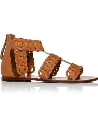 Link Weave Gladiator Flat Sandal