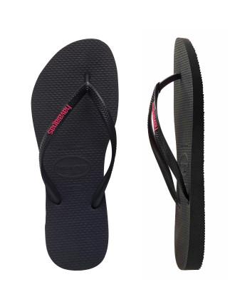 Slim Rubber Logo Black/Neon Pink