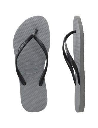 Slim Rubber Logo Steel Grey/Black