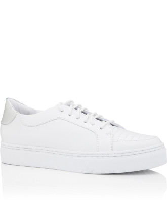 Sneaker With Silver Tab
