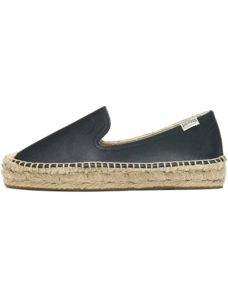 Platform Smoking Slipper - Leather