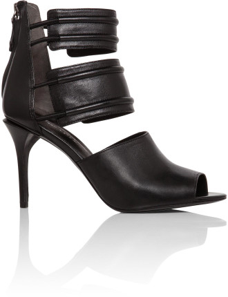 Ivy Leather Ankle Strap Heel