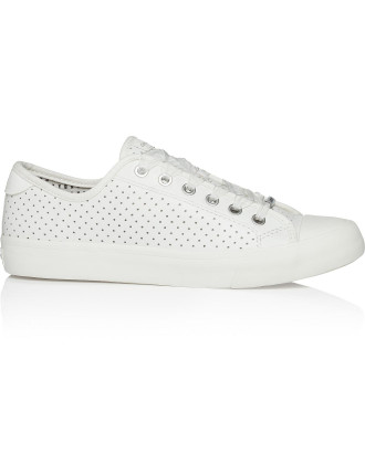 Barbara Perforated Lace Up Street Sneaker