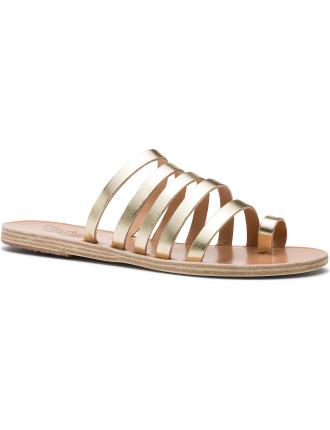 Multi Strap Slide Flat Sandal