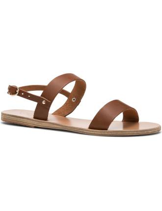 Dbl Strap Sling Flat Sandal