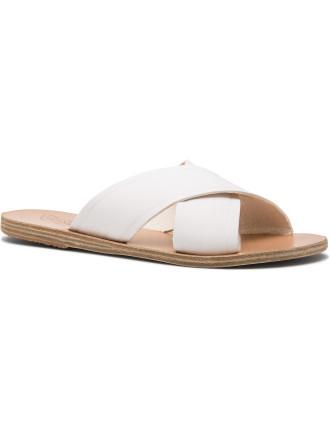 Cross Strap Flat Slide Sandal