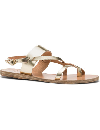 Twist Strap Sling Flat Sandal
