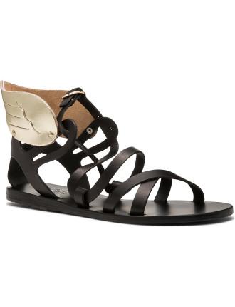 Multistrap Wing Flat Sandal