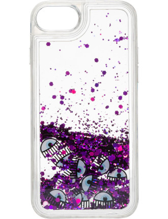 Water Glitter Logomania Phone Cover