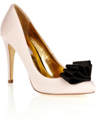 High Heel Pump with Satin Bow $124.50