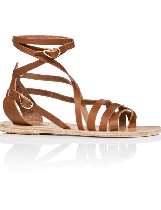 Satira Ankle Wrap Strappy Flat