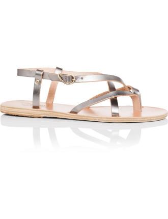 Semele Cross Strap Flat Sandal