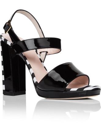 Brax Block Heel Stripe Platf Sandal