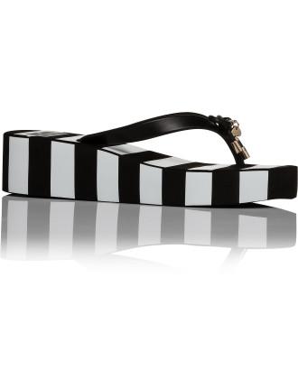 Rhett Stripe Platf Flip Flop