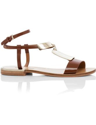 Anita Metal Plate Flat Sandal
