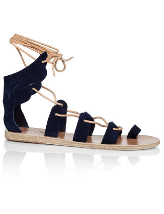 Fteroti Lace Up Suede Sandal W Wings