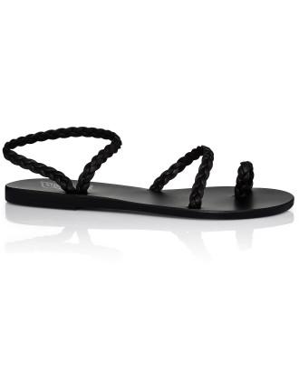Eleftheria Plait Flat Sandal