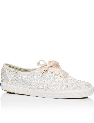 Kate Spade Keds Glitter Lace Up Sneaker