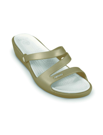 Patricia Triple Strap Slide On Small Wedge