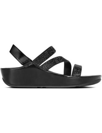 W Crystall Z-Strap Sandal Blac