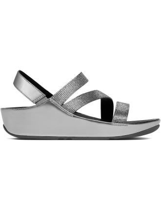 W Crystall Z-Strap Sandal Pewt