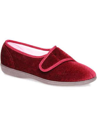 Lillian Plain Adjustable Velcro Slipper
