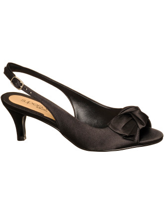 Gerry Evening Peep Toe Slingback with Bow