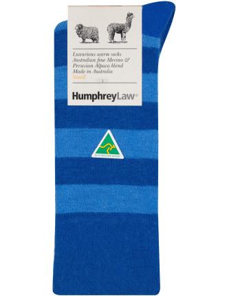 Baby Alpaca Wool Blend Stripe Health Sock