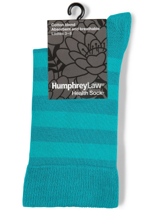 Cotton Health Sock with Self Stripe