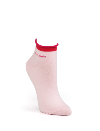 Colour Tip Roll Top Sock