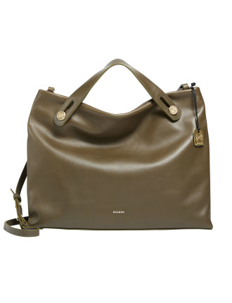 Mikkeline Satchel Leather Green