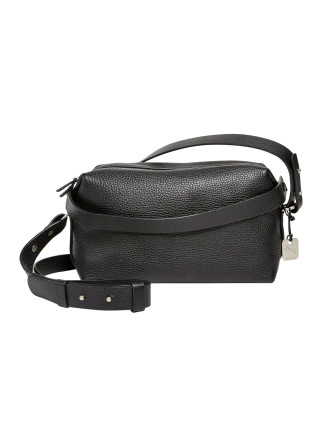 Ronne Satchel Leather Black