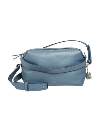 Ronne Satchel Leather Blue