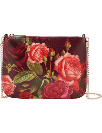 Malisa Justaposed Rose Leather Crossbody