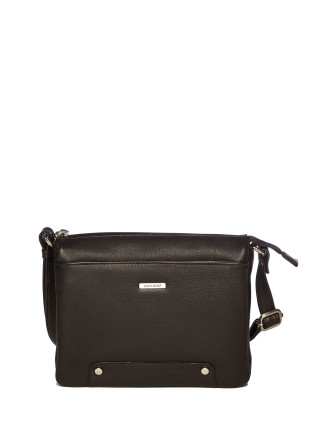 Multi Compartment Zip Top Crossbody