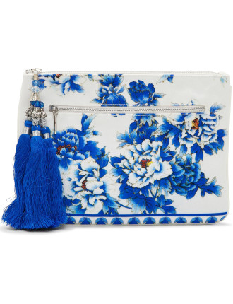 Ring Of Roses Small Canvas Clutch