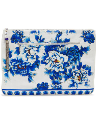 Ring Of Roses Large Canvas Clutch