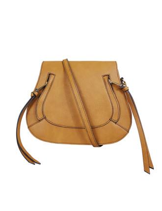 Tb 'Eden' Zip Feature Bag (Light Gold Fittings) Tan