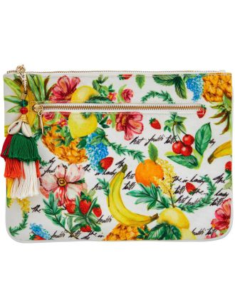 There's No Place Like Rio Small Canvas Clutch