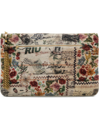 Memory Lane Large Canvas Clutch